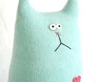 Cashmere Cat Doll - Stuffed Animal - Teal Cashmere Cat - Plush Cat - Crazy Cat Lady - Stuffed Cat - Soft Cat Doll - Soft Toy