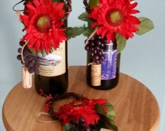 Red Home Decor Wine Bottle Toppers Bar Kitchen decoration Hostess gift Centerpiece wedding Bridal accessories corks grapes hostess gifts