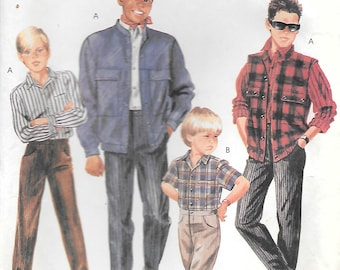 CLOSE OUT/ McCalls 3259 1980s Boys Jacket Vest Pants and Shirts Sewing Pattern Size 10 Waist 24.5