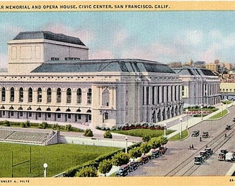 Vintage California Postcard - War Memorial Opera House, San Francisco (Unused)