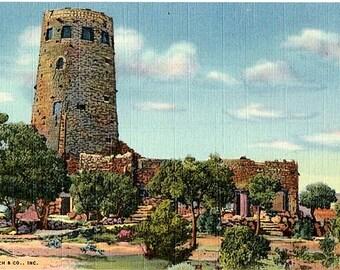 Vintage Arizona Postcard - Indian Watchtower at Desert View, Grand Canyon National Park (Unused)