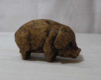 Hand Carved Stone Pig