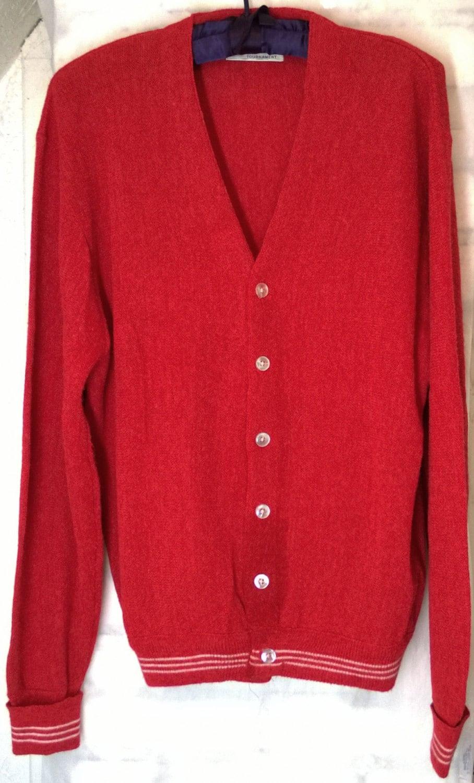 Vintage 1960s Arrow Tournament Sportswear Cardigan Sweater