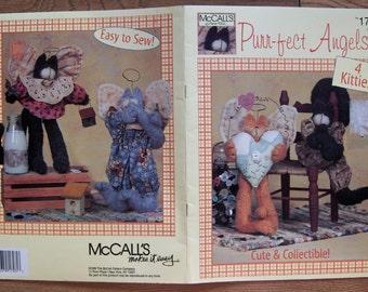 1999 sewing pattern McCAlls purrfect angels 4 kitties uncut decor cat
