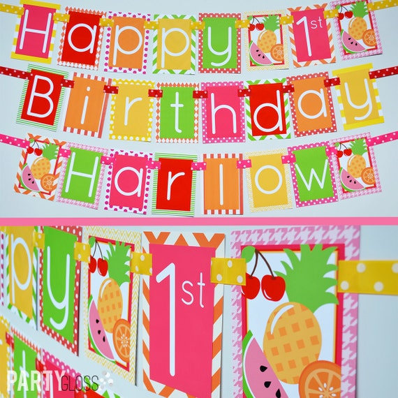 Tutti Frutti Birthday Party Banner Fully Assembled Decorations