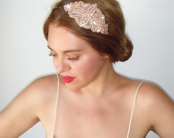 Weddings, Rose gold headband, Wedding headband, Rhinestone headband, headband, Bridal headpiece, Accessories, Bridesmaid, New Year's, Venice