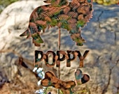 SOLD Golden Retriever Garden Stake / Metal Garden Art / Pet Memorial / Copper Art / Yard Art / Angel Dog / Pet Sculpture / Name Plate