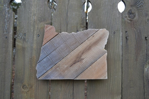 Oregon Cutout Reclaimed Wood Made To Order