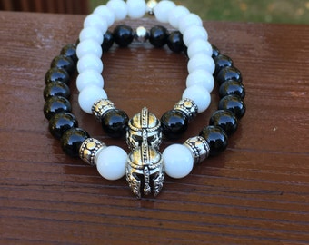 Couples Spartan Race Beaded Bracelets