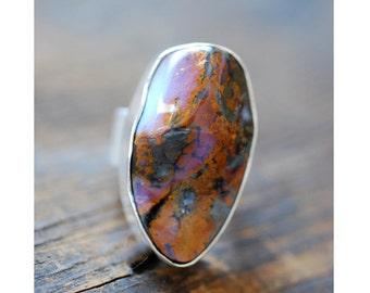 SOLD Dollybird Raw Boulder Opal Ring