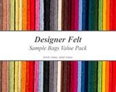 3mm Designer Felt Sample Bags Value Pack