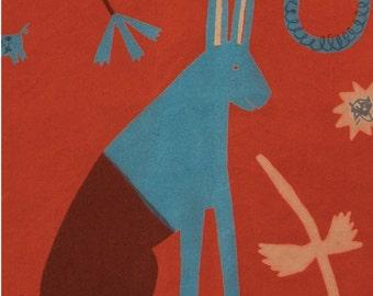 Caucasus Rabbit Card