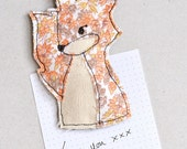 LAST ONE! Embroidered Mr Fox Magnet