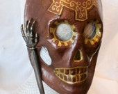 Archane Gear of Bones Hand Painted Mask