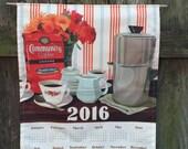 2016 Calendar Towel - An Ode to Coffee