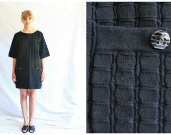 90s vintage CHANEL dress | black dress | lbd