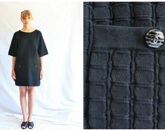 90s vintage CHANEL dress   black dress   lbd
