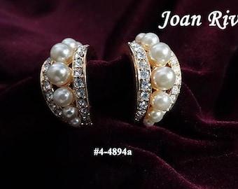 FREE SHIP Joan Rivers Rhinestones and Pearls