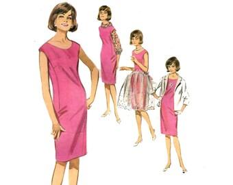 1960s Accessory Dress Pattern Cap Sleeve Shift Dress Overskirt Roll Collar Blouse Boxy Jacket Butterick 3139 Bust 32 Vintage Sewing Pattern