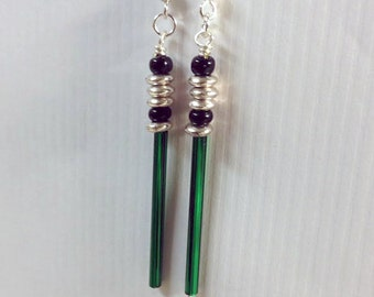 Green Laser Sword Earrings