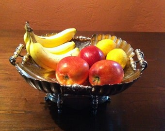 Victorian Silverplate,Wilcox Silver plate Fruit Bowl,Fancy Serving Bowl/Fruit Bowl,Victorian Silver Bowls, Silver plate 1880's USA ONLY