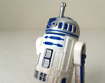 Vintage Star Wars Figure R2-D2 with Launching Lightsaber - Star Wars Droid, 90s Kenner Star Wars Kids Toy - Star Wars Gift For Him