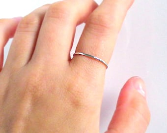 Sterling Silver Thin Stacking Ring