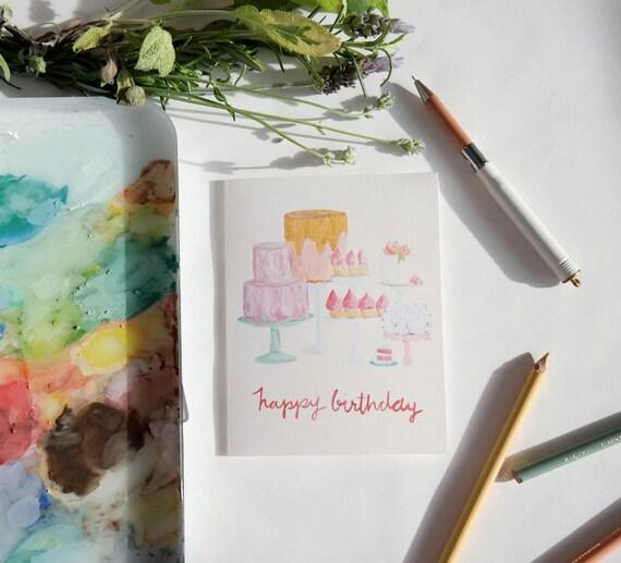 Birthday Card: Dessert Bar