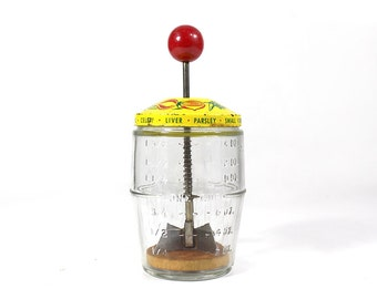 Vintage Hand Blender / Food Chopper / Measuring Jar