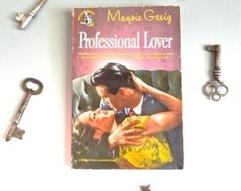 Vintage Book Professional Lover 40s pulp fiction Racey Novel - on sale