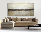 """6 Foot Painting Original Large Landscape Earth Tones 6ft Abstract Art Oil Painting 36x72 HUGE Modern Art Work 72"""" Painting FREE SHIPPING"""
