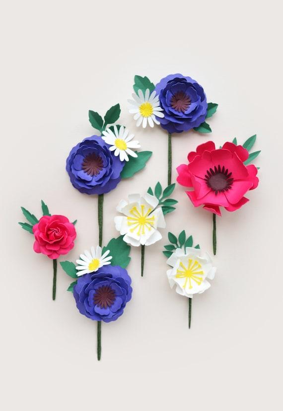 Handmade Paper Flower buttonholes