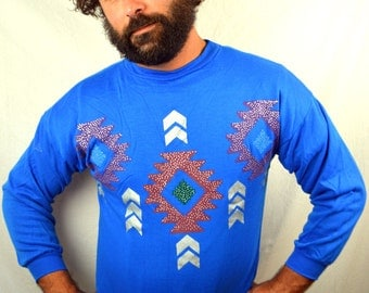 Fun 80s Geometric Sweatshirt