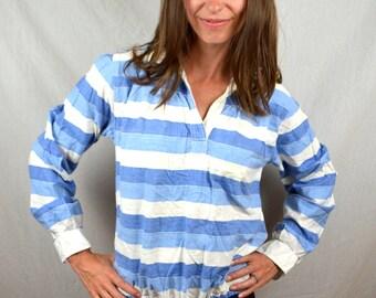 Vintage Striped Blue Angelique Summer Top