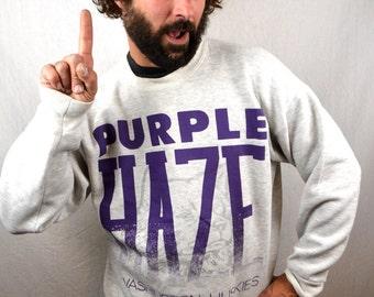 Vintage 1990s 90s Husky University of Washington UW Sweatshirt - Purple Haze