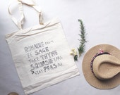 ROMAINE Calm, Be SAGE, Take THYME, Squash Fears, Be Peas-Ful Basic Cotton Tote, Natural Canvas Look, Medium Tote, GroceryCarry All Market