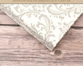 Baby  Book (Pregnancy - 5 Years) - Light Grey + White Damask (136 designed journaling pages & personalization included)