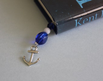 Nautical Beaded Bookmark/Book Thong.