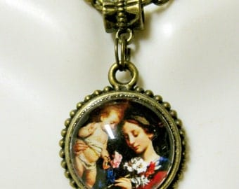 Madonna and child necklace - AP17-613