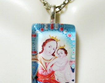 Virgin Mary pendant with chain - GP09-041