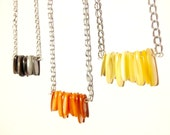 ONE DOLLAR SALE - Necklace - Shell Fringe - one color left - off white available