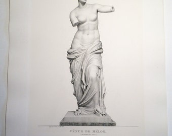 Antique Print: Vénus de Mélos by Pierre Bouillon from Musée des Antiques