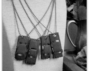 The Men In Black. Vintage Matte Black Toy Car necklace- Choice of car