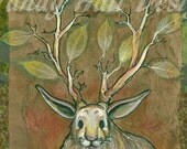 Jackalope Tree Print by Vandy Hall, matted, numbered, signed