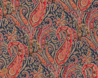 Felix and Isabelle, Colorful Paisley, Liberty Tana Lawn Fabric, Liberty of London, Liberty Japan, Quilt Fabric, Cotton Print Scrap, kt3035e