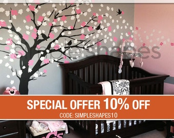 Wall Decals - Cherry Blossom Tree - Elegant Style - LARGE Wall Decal