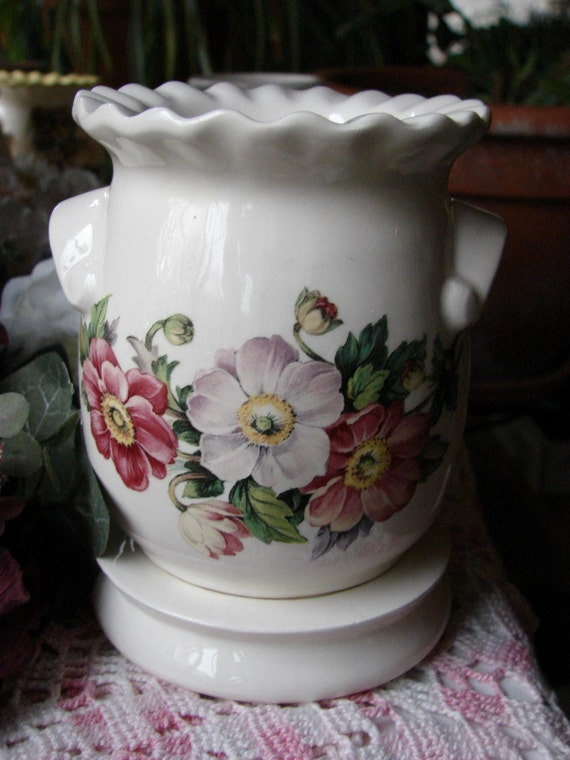 Electric Tart Burners ~ Floral swag electric tart warmer