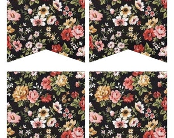 Blank Floral DIY Banner Printable  {On Sale from 1.99}