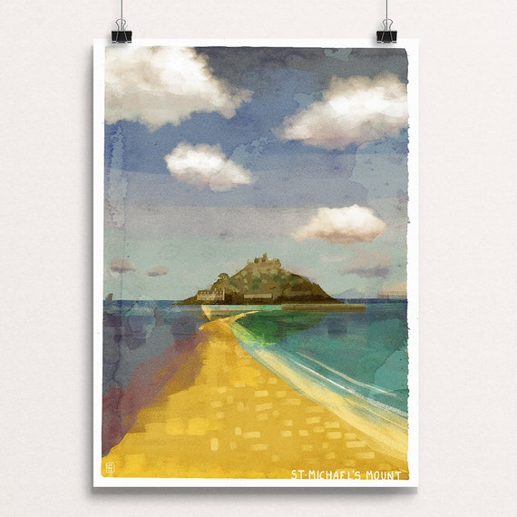 St Michael's Mount - Signed Cornish Coasts Giclee Print