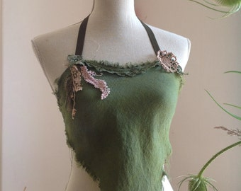 Green pine top festival faerie clothing